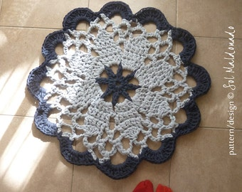 Crochet Rug Mandala Crochet pattern Tarn Round carpet PDF or mandala crochet pattern easy doilies - INSTANT DOWNLOAD