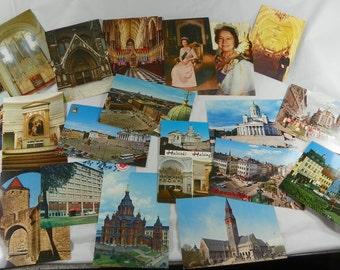 VINTAGE 1970s Post Card Lot 1960s Travel Nature Cities People Plants Scrap Book Crafting Photo Photographs Tourist Scrapbook Ephemera Gift