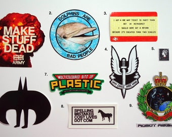 Die-Cut Vinyl Stickers, Opaqe and Transparent - Spelling Mistakes Cost Lives