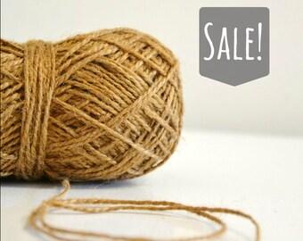 Coffee Sack Brown Rustic Jute Twine / string / Yarn for crafting, knit, crochet, gift wrap, packaging, burlap, scrapbook, wedding favors