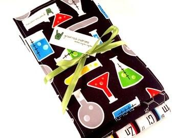 Baby Burp Cloth Set - Chemistry, Fun with Science, Math