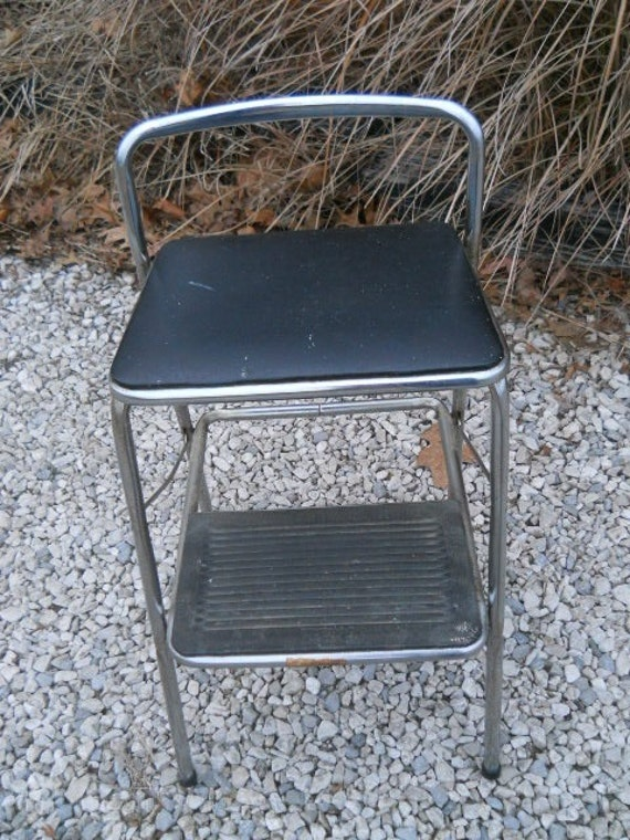 Vintage Cosco Folding Chair Stoolblack