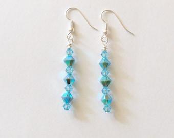 Handmade Earrings Aqua Dangle Beach Wedding Jewelry Jewellery Gift Idea