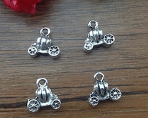 1 Cinderella Carriage Charm, Carriage Charms, Cinderella Charms, DIY Charms, Silver Charms, 3D Charms, Supplies, Beading Supplies
