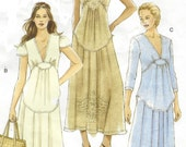 Womens Boho Dress with Sleeve and Trim Variations OOP Vogue Sewing Pattern V8384 Size 14 16 18 20 Bust 36 38 40 42 UnCut