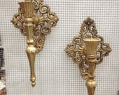 Metal Sconce Pair for Any Color Candle