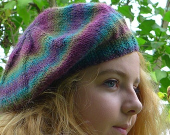 classic beret in soft colors