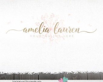 premade logo photography Logo gold logo premade logos Logo for photographer photography logo dandelion Logo photography logos and watermarks