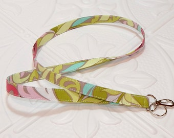 Lanyard - Fabric Lanyard - Teacher Lanyard - Key Lanyard - Id Badge Holder