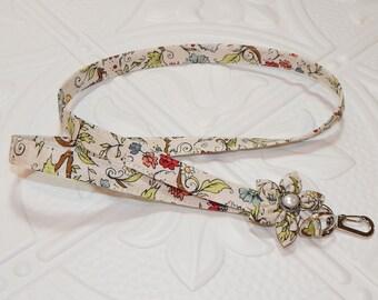 Lanyard - Badge Lanyard -  Fabric Lanyard -  Key Lanyard - Flower Print