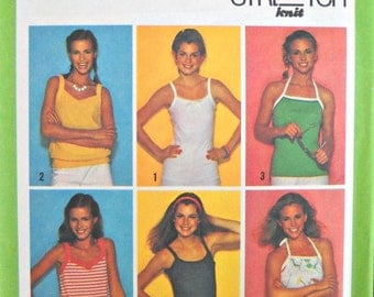Simplicity 9035 Pullover Tops Stretch Knits Pattern, Sizes 6, 8, 10, Vintage 1979