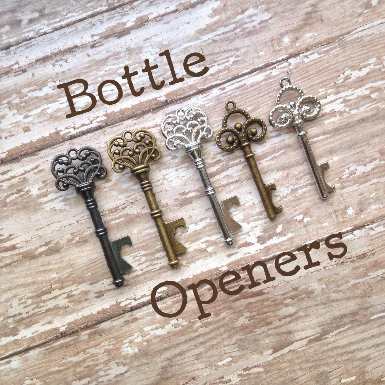 skeleton key wedding favors bottle openers by sisternomadsupplies. Black Bedroom Furniture Sets. Home Design Ideas