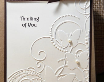Set of 4 Thinking of You/Sympathy Handmade Cards