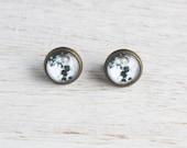 NEW Full Moon Stud Earrings - Nickel Free - Wanderlust Collection - Galaxy Jewelry