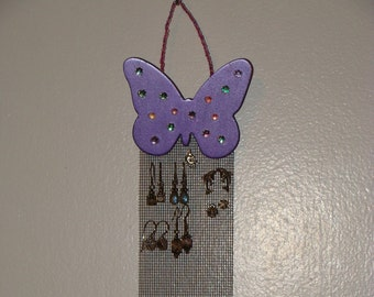 Jewelry Organizer Hanging Jewelry Holder Display  'Royal Butterfly Royale' (mini)