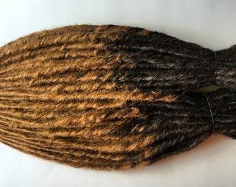 50 Single Ended SE Synthetic Dreads Brown Light Auburn Dreadlock Set Transitional Ombre Fade Custom Dreadloc Hair Extensions