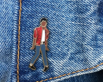 Michael Jackson Pin, Hard Enamel Pin, Thriller, Moonwalk, Jewelry, Art, Artist, Gift (PIN59)