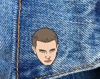Eleven Pin, Soft Enamel Pin, Lapel Pin, Stranger Things, Gift, Jewelry