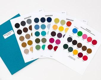 SENSUEDE color swatch collection