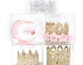 Keepsake box for Love Crush MINI lace crown || gift box || CLEAR storage box
