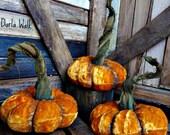 Primitive Velvet Pumpkins  Velvet Pumpkins   Fall Decor   Halloween Pumpkins   Thanksgiving pumpkin
