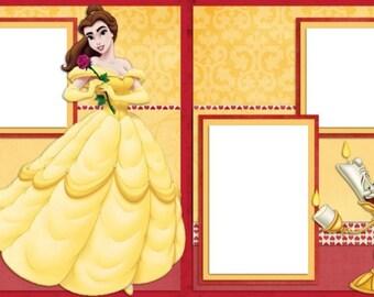 Belle - Disney Digital Scrapbook Quick Pages - INSTANT DOWNLOAD