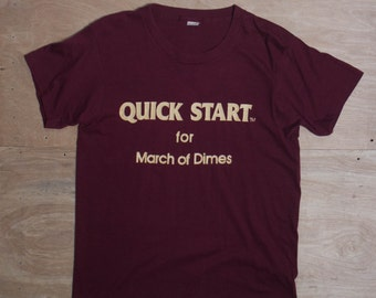 LRG | Paper Thin Vintage Screen Stars T Shirt Quick Start for March of Dimes
