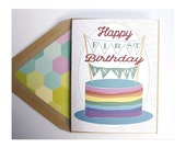 First Birthday  -  Adult card, Transgender, Transsexual, Lesbian, Gay, Adoption, LGBT, for him, for her