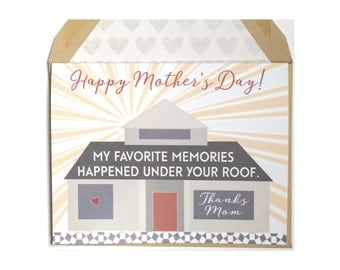 Under Your Roof - Mother's Day Card, Mom, for her, parent