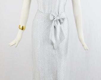 70s METALLIC HOTPANTS BODYSUIT With Matching Maxi Wrap Skirt 2 Pc ensemble Disco Era