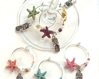 Flip Flop Wine Charms Beach Lovers Gift Wine Tasting Party Favors Beach Wine Charms Beach Wedding Gift for Couple Beach Bridal Shower Favors