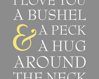 A Bushel and a Peck