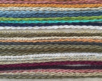 Earth Friendly- Simple Braid - Tie On Friendship Anklets - Kids to Adults - Choose Your Size & Favorite Color(s)