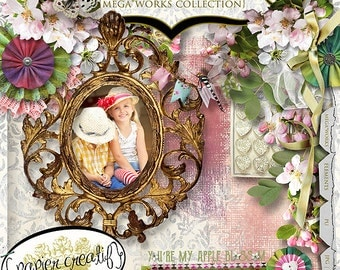 You're My Apple Blossom by Papier Creatif Spring Digital Scrapbook Kit