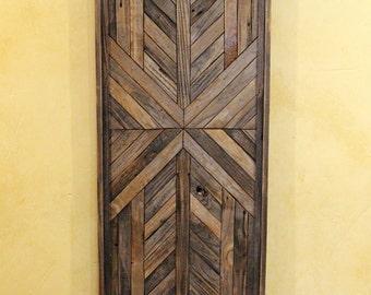 20x48 Reclaimed Wood Wall Art, Wall Decor or Twin Headboard, Geometric