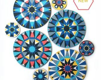 NEW Galaxy geometric table mats