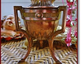 Vintage French Gilt Metal Box, Jewelry Casket, Antique French  Box, French Trinket Box, Antique Boudoir Box, French Jewelry Box