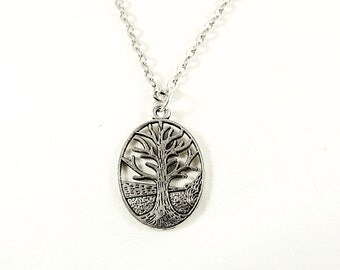 Silver Pendant Necklace,  Tree Of Life Necklace, Silver Celtic Pendant ,  Free Gift box   Womens Gift