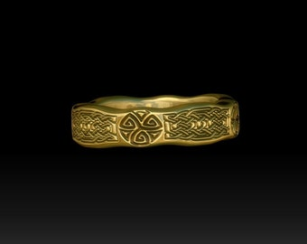 Gold wedding ring gold celtic ring celtic band gold wedding celtic ring wedding celtic band celtic knot TR2G6m