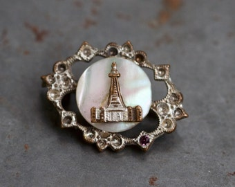 Victorian Pin - Antique Brooch - Souvenir from Blackpool - Seaside England