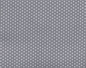 SALE - Flat or Fitted Crib Sheet You Choose - Grey Pin Dot