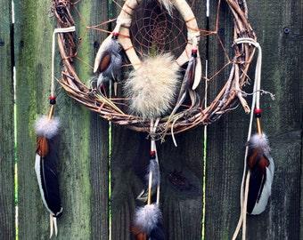 Dream Catcher Antler Dreamcatcher Coyote Fur Dreamcatcher Natural Dream Catcher Native Dream Catcher