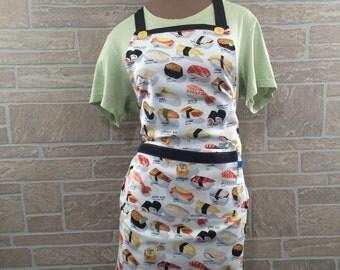 Sushi apron, sushi novelty apron, sushi lover apron