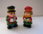Christmas Carolers Candles Figurines - Set of 2 - Merry Christmas Carols - New Unused - Christmas Holiday Decor - Gift Idea