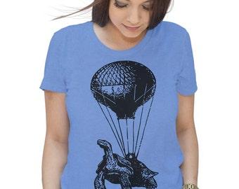 Turtle Shirt Hot Air Balloon Shirt Womens Graphic Tees Mens Tshirt Kids Tshirt Funny Tshirts Birthday Shirt Gift T Shirt Gifts For Mom Him