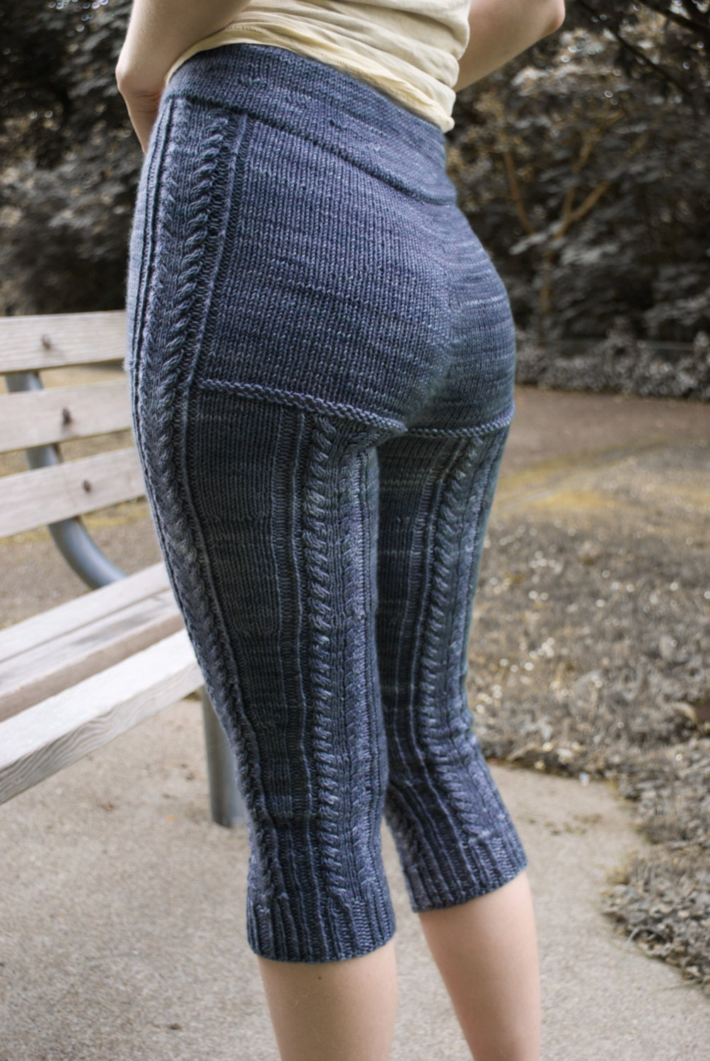 Knit Leggings Pattern : Kalaloch Cabled Leggings PDF Knitting Pattern