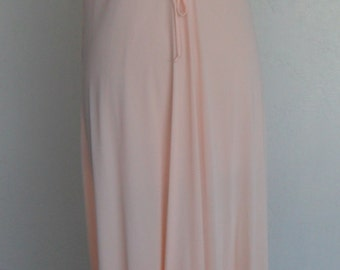 Vintage Nightgown Negligee Peach Nylon by Gilead Size Large