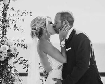 Bridal Crystal Rhinestone Tie on Headband Silver or Gold tone Wedding Accessories