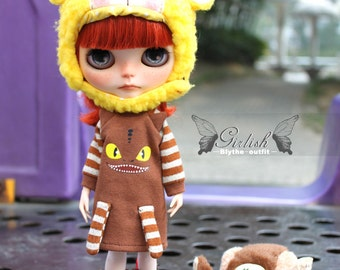 Girlish - Monster Dress for Blythe doll - dress / outfit