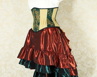 Mini Length Cecilia Skirt in Taffeta -- Custom Made in Your Size and Color Choice